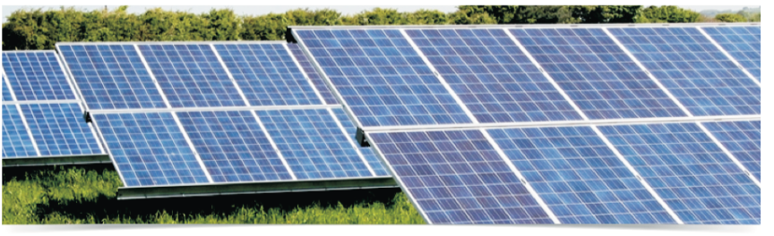 solar panels illustrating solar PV for the commercial and public sectors