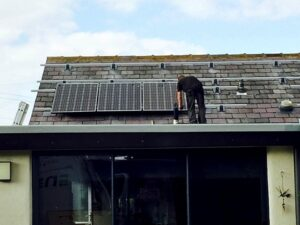 Solar PV Panels Being Installed